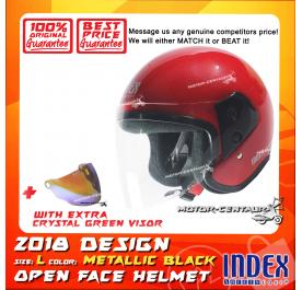 INDEX HELMET RED + CRYSTAL GREEN VISOR