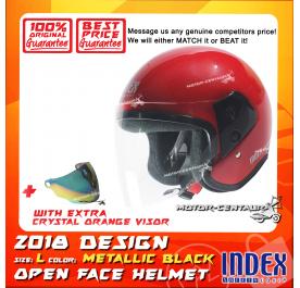 INDEX HELMET RED + CRYSTAL ORANGE VISOR
