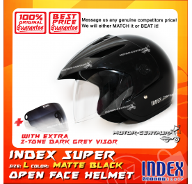 INDEX SUPER HELMET MATT BLACK + 2-TONE DARK GREY VISOR