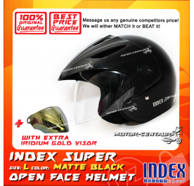 INDEX SUPER HELMET MATT BLACK + IRIDIUM GOLD VISOR