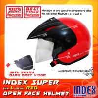 INDEX SUPER HELMET RED + DARK GREY VISOR