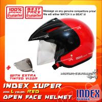 INDEX SUPER HELMET RED + TINTED VISOR