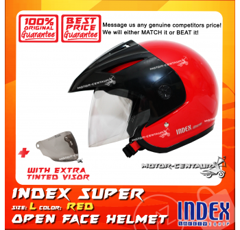 INDEX SUPER HELMET RED + TINTED VISOR