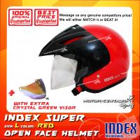 INDEX SUPER HELMET RED + CRYSTAL GREEN VISOR