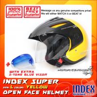 INDEX SUPER HELMET YELLOW + 2-TONE BLUE VISOR
