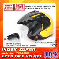 INDEX SUPER HELMET YELLOW + 2-TONE DARK GREY VISOR