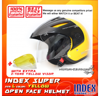 INDEX SUPER HELMET YELLOW + 2-TONE YELLOW VISOR