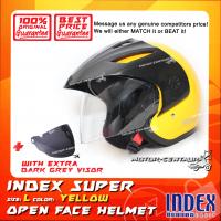 INDEX SUPER HELMET YELLOW + DARK GREY VISOR