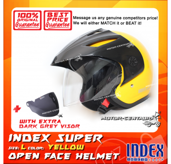 INDEX SUPER HELMET YELLOW + DARK GREY VISOR