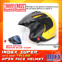 INDEX SUPER HELMET YELLOW + IRIDIUM BLUE VISOR