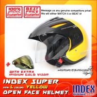 INDEX SUPER HELMET YELLOW + IRIDIUM GOLD VISOR