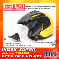 INDEX SUPER HELMET YELLOW + IRIDIUM SILVER VISOR