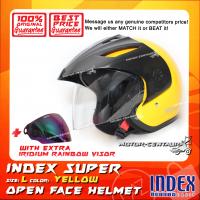 INDEX SUPER HELMET YELLOW + IRIDIUM RAINBOW VISOR