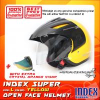INDEX SUPER HELMET YELLOW + CRYSTAL ORANGE VISOR