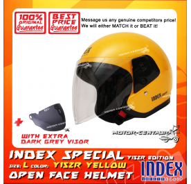 INDEX SPECIAL HELMET Y15ZR YELLOW + DARK GREY VISOR