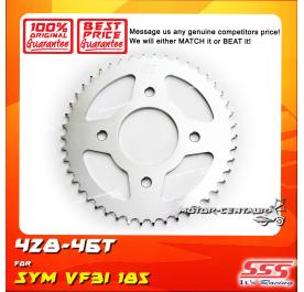 SSS REAR SPROCKET STEEL SYM VF3I 185 428-46T