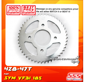 SSS REAR SPROCKET STEEL SYM VF3I 185 428-47T