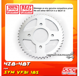SSS REAR SPROCKET STEEL SYM VF3I 185 428-48T