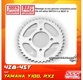 SSS REAR SPROCKET STEEL Y100, SRL110, Y125Z, RXZ, LC135, DV110, EVOZ 428-45T