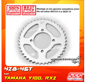 SSS REAR SPROCKET STEEL Y100, SRL110, Y125Z, RXZ, LC135, DV110, EVOZ 428-46T