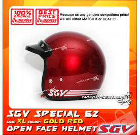 SGV HELMET SPECIAL62 GOLD RED
