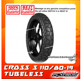 CORSA PLATINUM TUBELESS TYRE CROSS S 110/80-19