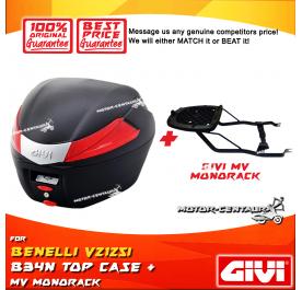 GIVI B34N TOP CASE + GIVI BENELLI VSZ125I MV MONOROCK