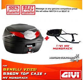 GIVI B360N TOP CASE + GIVI BENELLI VSZ125I MV MONOROCK