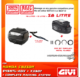GIVI TOTAL 58 LITRE CASES SET FOR HONDA CB250R