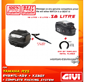 GIVI TOTAL 58 LITRE CASES SET FOR YAMAHA YZF R25