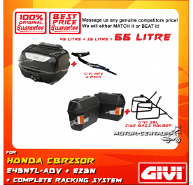 GIVI TOTAL 66 LITRE CASES SET FOR HONDA CBR250R