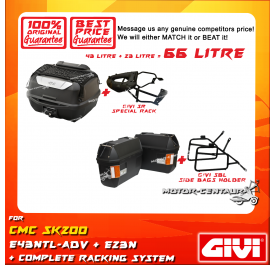 GIVI TOTAL 66 LITRE CASES SET FOR CMC SK200