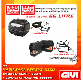 GIVI TOTAL 66 LITRE CASES SET FOR KAWASAKI VERSYS X250