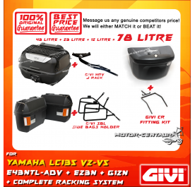 GIVI TOTAL 78 LITRE CASES SET FOR YAMAHA LC135 Y135LC ES V2-V5