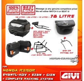 GIVI TOTAL 78 LITRE CASES SET FOR HONDA RS150R