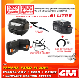 GIVI TOTAL 81 LITRE CASES SET FOR YAMAHA FZ150 2014
