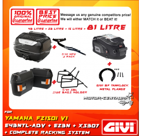 GIVI TOTAL 81 LITRE CASES SET FOR YAMAHA FZ150I V1