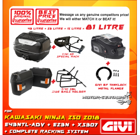 GIVI TOTAL 81 LITRE CASES SET FOR KAWASAKI NINJA 250 2018