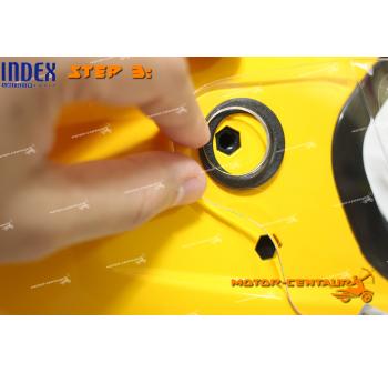 INDEX SUPER HELMET MATT BLACK + SIDE CAPS CONVERTER