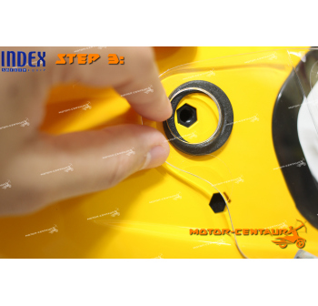 INDEX SUPER HELMET RED + SIDE CAPS CONVERTER