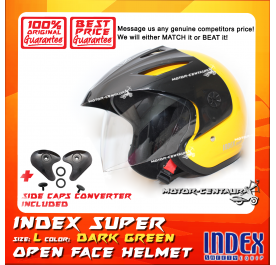 INDEX SUPER HELMET YELLOW + SIDE CAPS CONVERTER