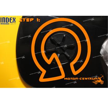 INDEX SUPER HELMET YELLOW + SIDE CAPS CONVERTER