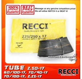 RECCI TUBE 2.25-17, 2.50-17, 60/100-17, 70/90-17, 70/100-17