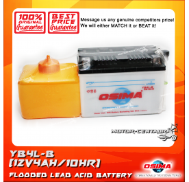 OSIMA FLOODED CELLS LEAD ACID BATTERY YB4L-B