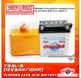 OSIMA FLOODED CELLS LEAD ACID BATTERY YB3L-B