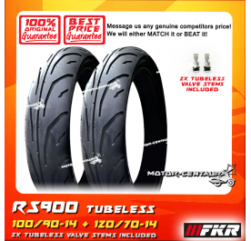 FKR TUBELESS TYRE RS900 100/90-14 + 120/70-14