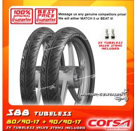 CORSA TUBELESS TYRE S88 80/90-17 + 90/90-17