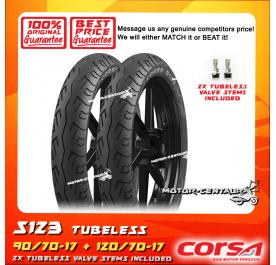 CORSA TUBELESS TYRE S123 90/70-17 + 120/70-17