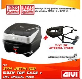 GIVI B32N TOP CASE + GIVI SYM JET14 125I SRV SPECIAL RACK