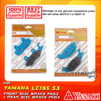 YASAKI FRONT DISC BRAKE PADS + REAR DISC BRAKE PADS FOR YAMAHA LC135 5S